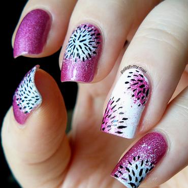 Dragon fruit nail art by Ewlyn