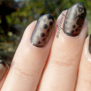 Sheer Black Nails! nail art by madjennsy Nail Art