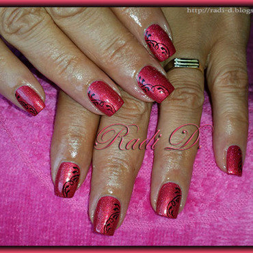 Opi DS Reflection nail art by Radi Dimitrova