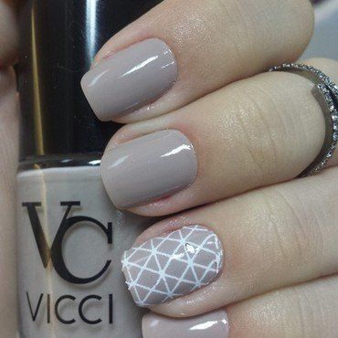 Classic Nude nail art by Charmaine Alves