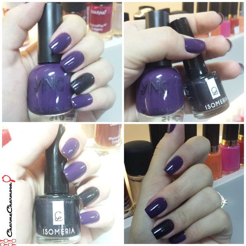 Purple Shadow nail art by Charmaine Alves
