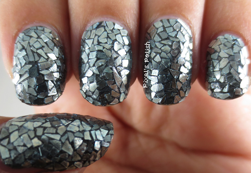 Shattered Mirror nail art by Pixel's Polish