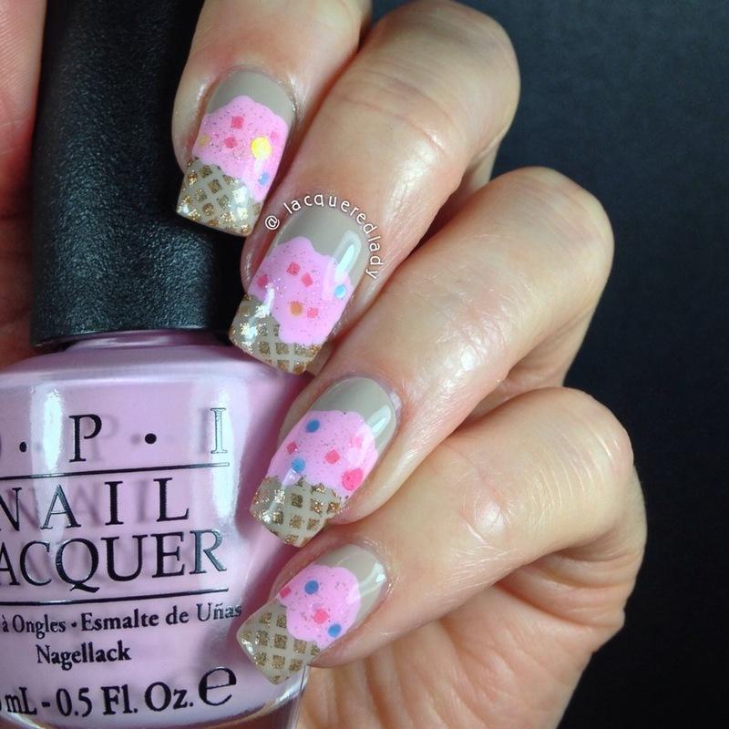Ice Cream Nails nail art by LacqueredLady