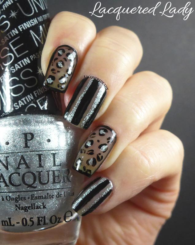 Sheer Black Leopard Print Nails nail art by LacqueredLady