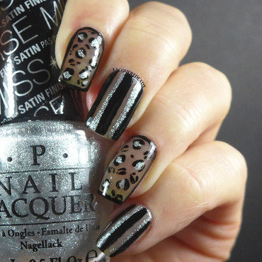 Sheer Black Leopard Print Nails nail art by LacqueredLady