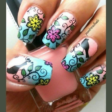 The Bird is the Word nail art by pcontreras8nails