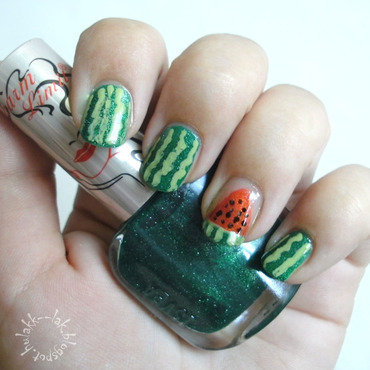 Watermelon nail art by Barbara P.