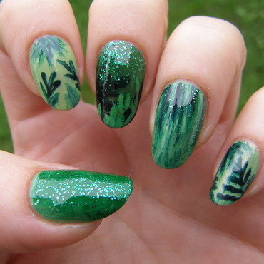 Jungle nail art by Szilvia
