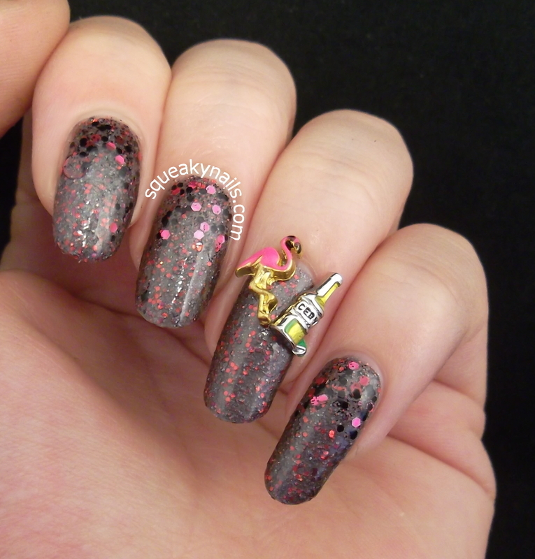Vegas Wedding  nail art by Squeaky  Nails