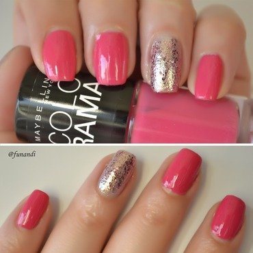Simple polish combination nail art by Andrea  Manases