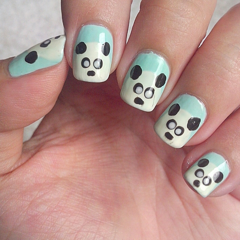 Panda nail art by Judy Ann Chio