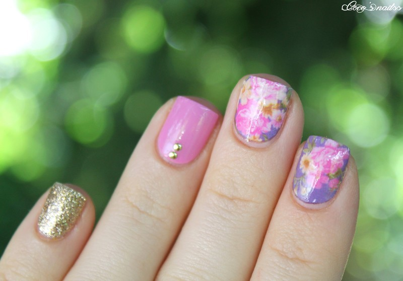 vintage nails nail art by Cocosnailss