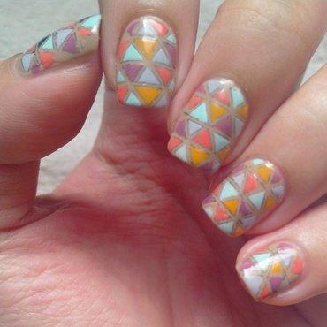 Mosaic nail art by Judy Ann Chio