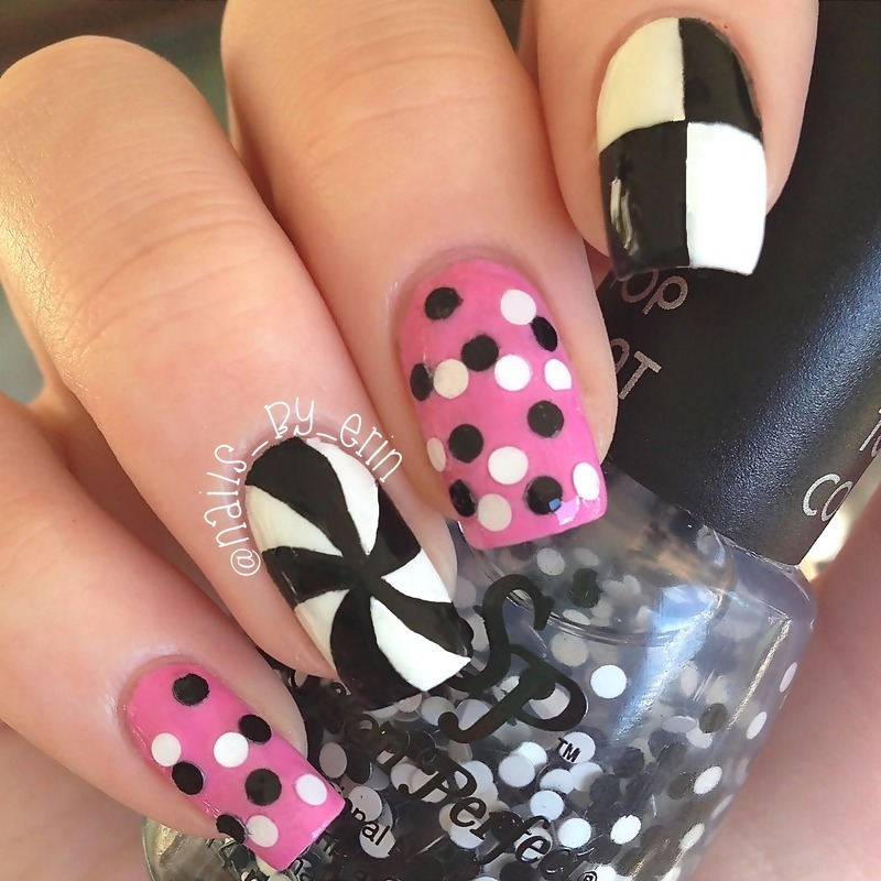Ariana Grande 60's Inspired Nails nail art by Erin