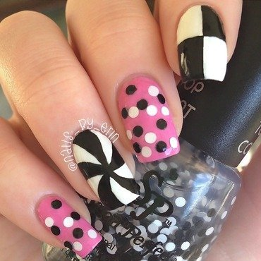 Ariana Grande 60's Inspired Nails nail art by Erin