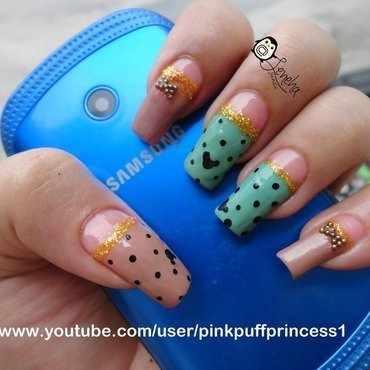 Mickey Mouse Nails nail art by Leneha Junsu