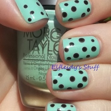 Mint chocolate dotticure nail art by Jenette Maitland-Tomblin