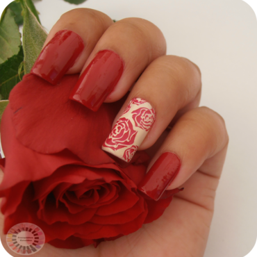 Roses are red nail art by Sandy