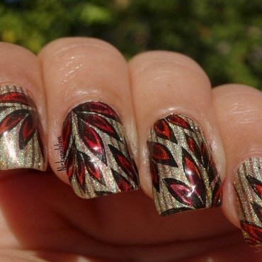 Hanging leaves nail art by Nicky