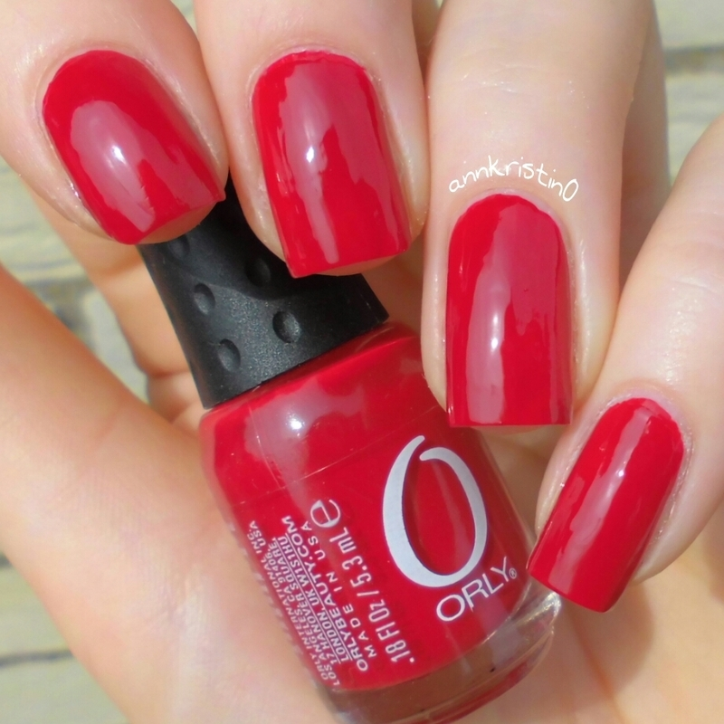 Orly Red Flare Swatch by Ann-Kristin