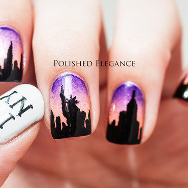 New York, Here I Come nail art by Lisa