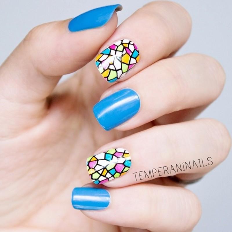 Nail wraps nail art by Temperani Nails