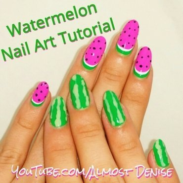 Watermelon Nail Art nail art by Almost Denise