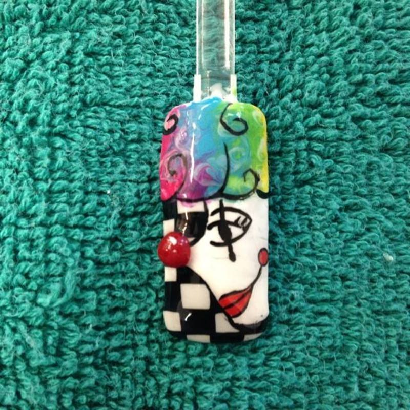 Carnivale nail art by Beth Marie