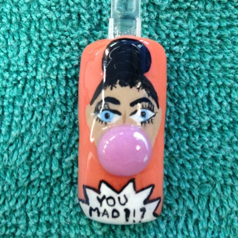 You mad or naw? nail art by Beth Marie