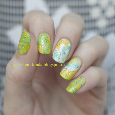 Crazy summer nails nail art by Passionorkinda
