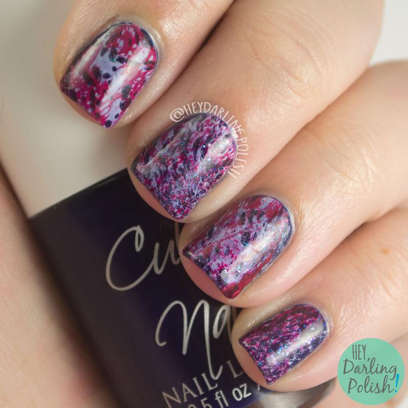 Waterspotted Pride nail art by Marisa  Cavanaugh