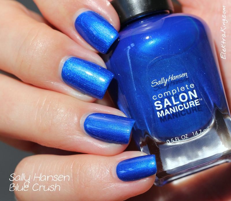 Sally Hansen Blue Crush Swatch by Elektra King