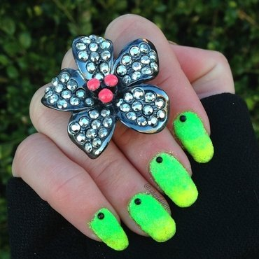 Neon Gradient for Spring nail art by Sparkly Nails by Spejldame