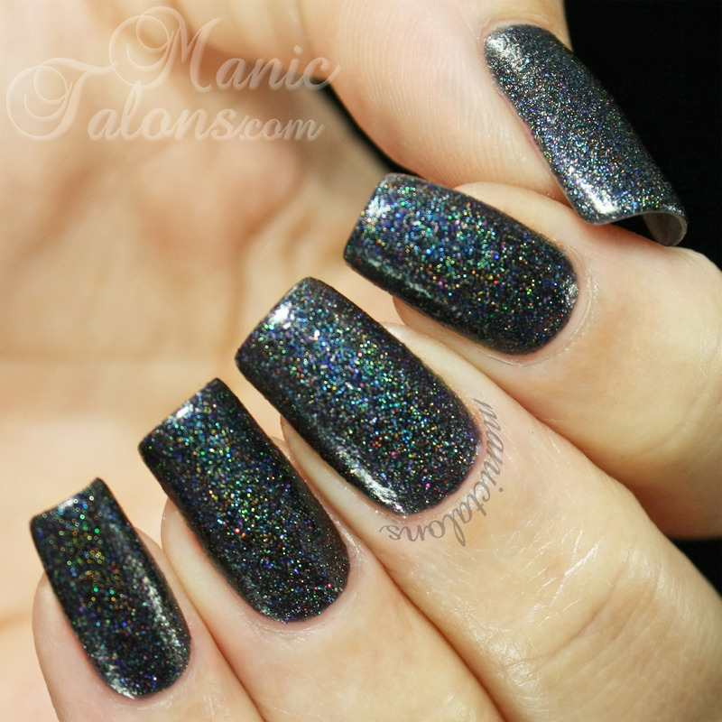 Glam Polish That Old Black Magic Swatch by ManicTalons