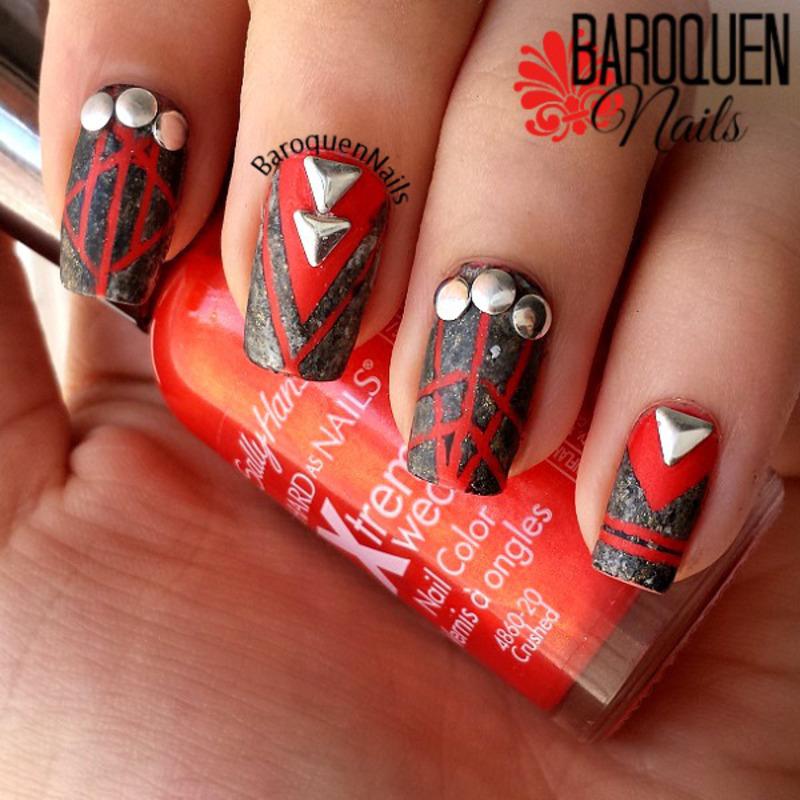 Hot Stones nail art by BaroquenNails