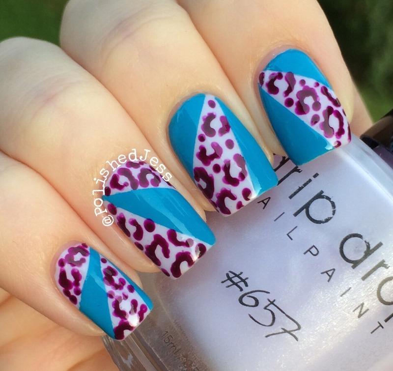 Leopard Cut-Outs  nail art by PolishedJess