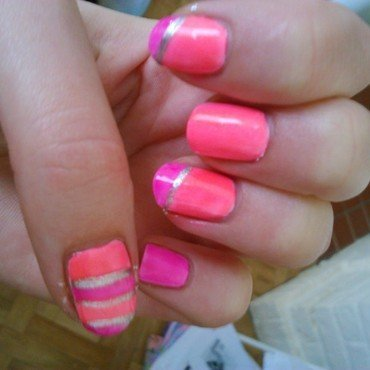 neon nail art nail art by manon des ours
