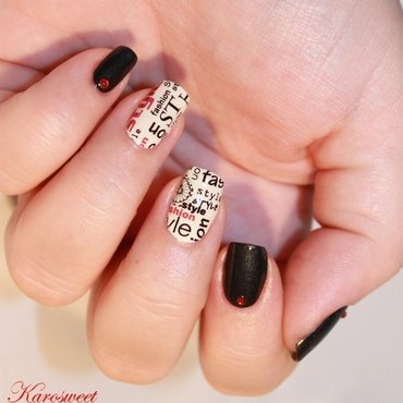 Writing nail art nail art by Karosweet