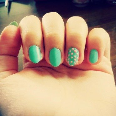 Mint Fresh nail art by Simona