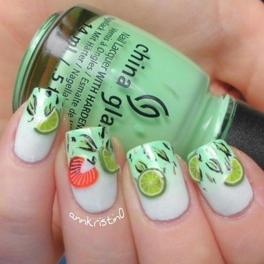 Mojito Nails nail art by Ann-Kristin