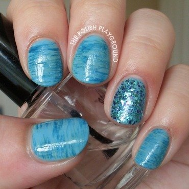 Watery Blue Haze nail art by Lisa N