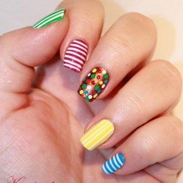 Candy crush saga nail art nail art by Karosweet