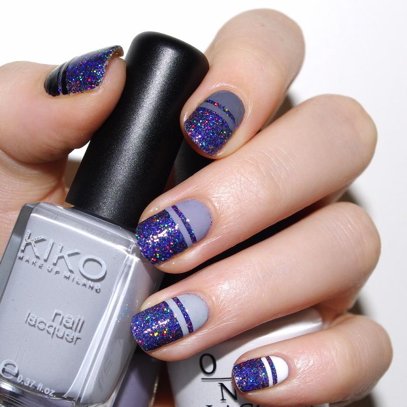 Gradient Galaxy nail art by Bulleuw