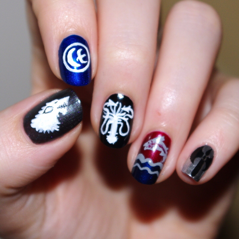 Game of Thrones nail art by Bulleuw - Nailpolis: Museum of Nail Art