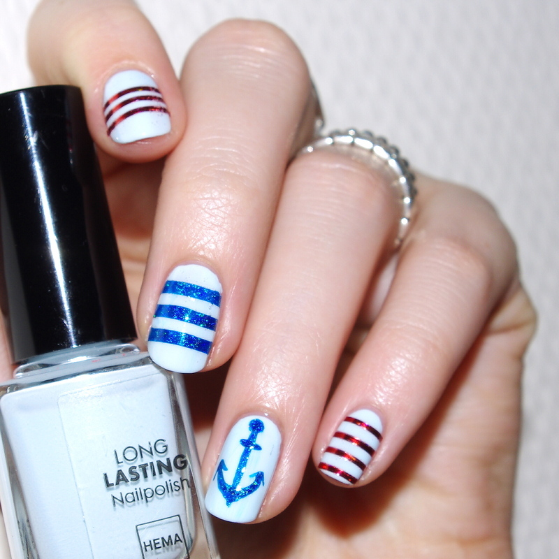 The Love Boat nail art by Bulleuw