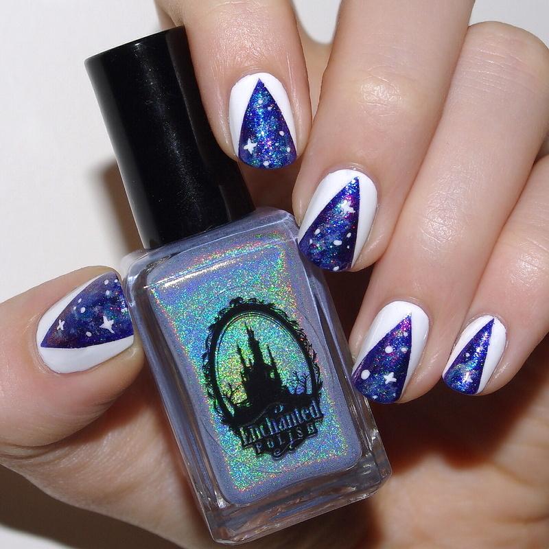 Galaxy nail art by Bulleuw
