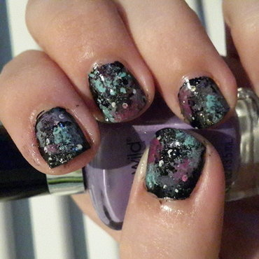 Galaxy Nails nail art by Renataremedios