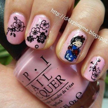 Kimono Girl  nail art by D4zzling Me