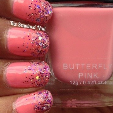 Glitter Gradient nail art by TheSequinedNail