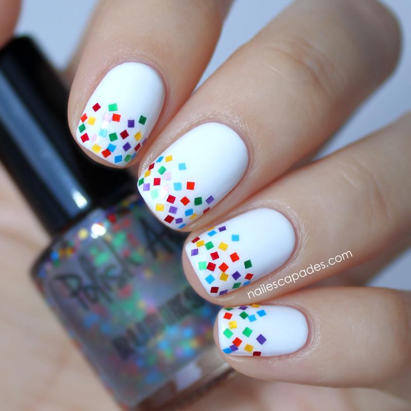 Retro Chic Glitter Gradient nail art by NAIL ESCAPADES